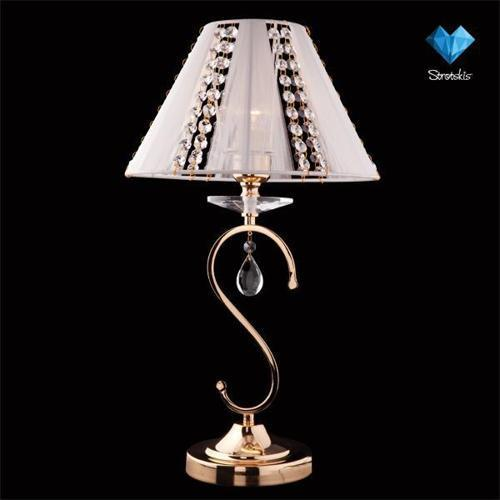 Настольная лампа Eurosvet 3419/1T золото/белый Strotskis globo agam 3419