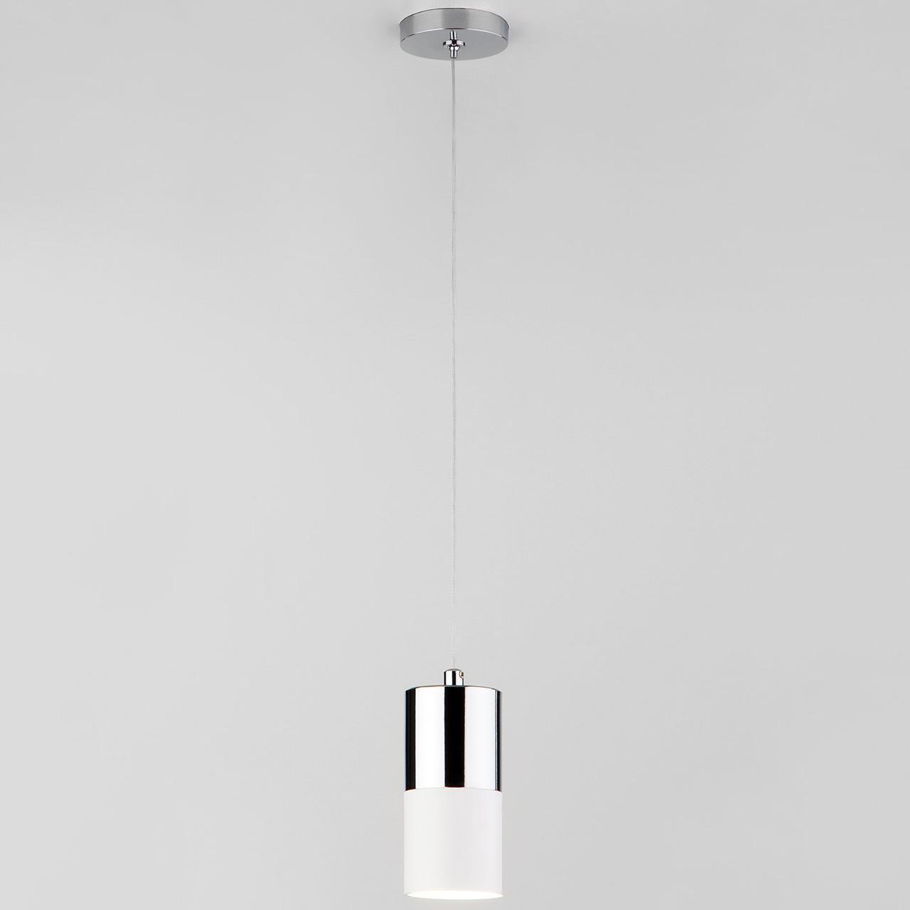 Подвесной светильник Eurosvet Mini Topper 50146/1 хром/белый