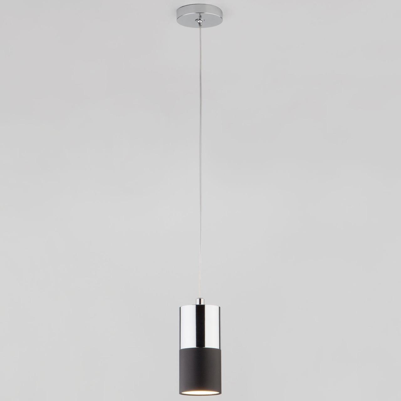 Подвесной светильник Eurosvet Mini Topper 50146/1 хром/черный