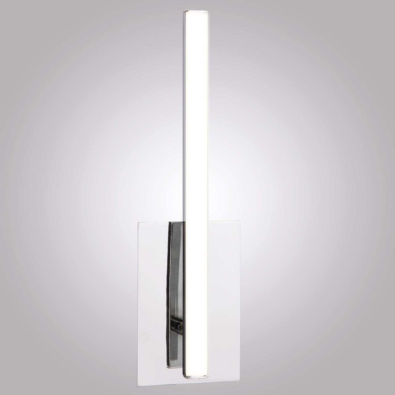 Настенный светодиодный светильник Eurosvet Хай-Тек 90020/1 хром настенное бра eurosvet хай тек 90020 2 хром