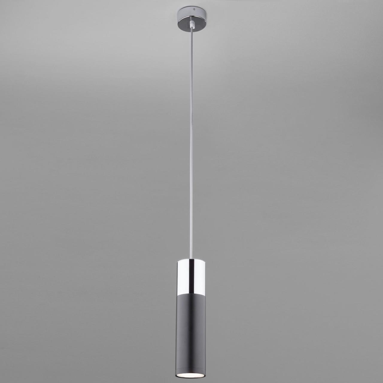 Подвесной светильник Eurosvet Double Topper 50135/1 LED хром/черный