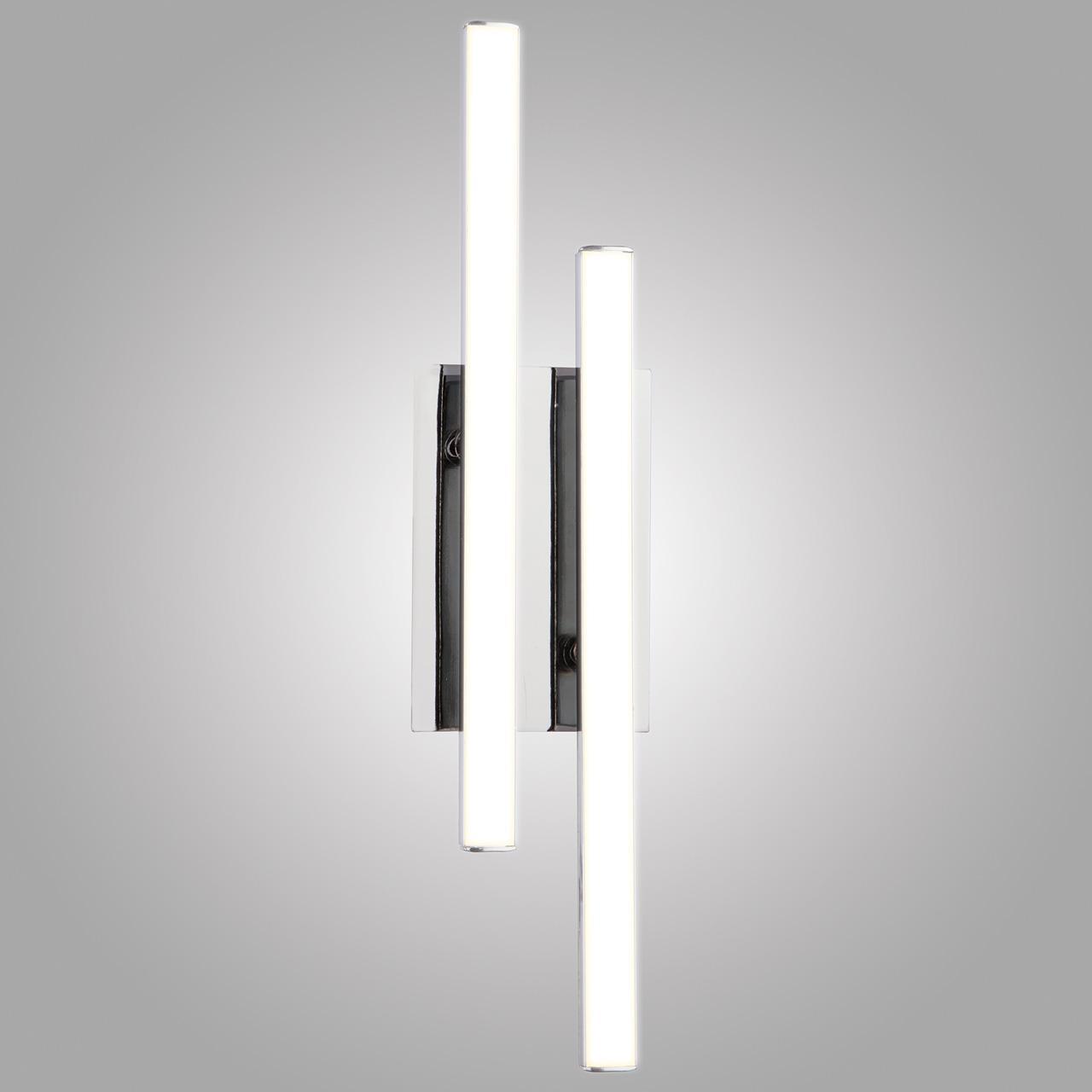 Настенный светодиодный светильник Eurosvet Хай-Тек 90020/2 хром настенный светодиодный светильник eurosvet хай тек 90020 1 хром