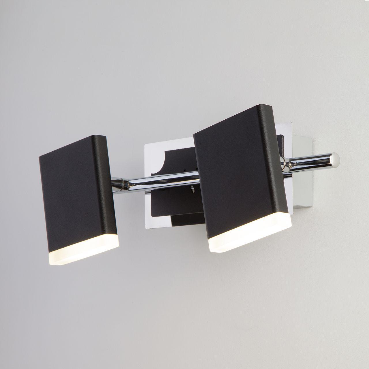 Светодиодный спот Eurosvet Collin 20000/2 черный электробритва panasonic panasonic es ga21
