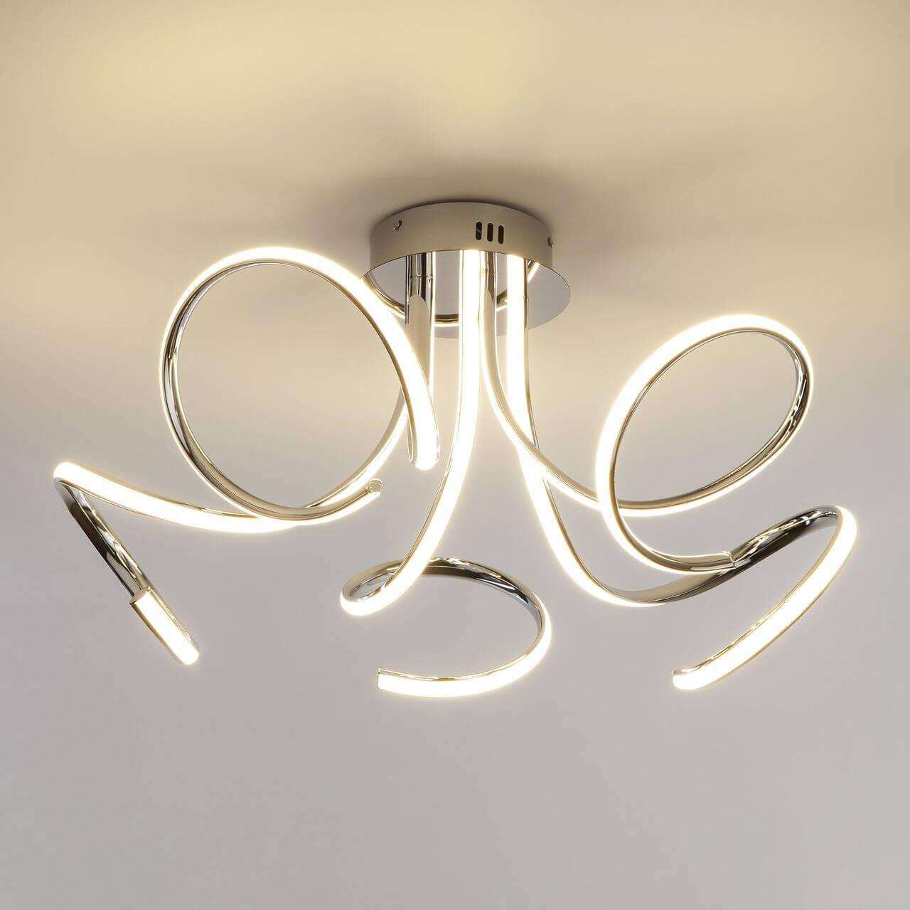 Потолочный светодиодный светильник Eurosvet Supreme 90068/5 хром eurosvet потолочная люстра eurosvet supreme 90068 5 хром 72w