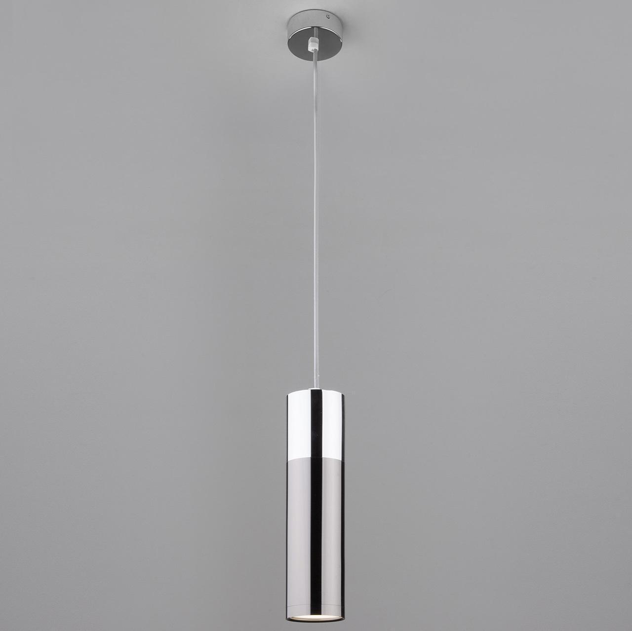 Подвесной светильник Eurosvet Double Topper 50135/1 LED хром/черный жемчуг