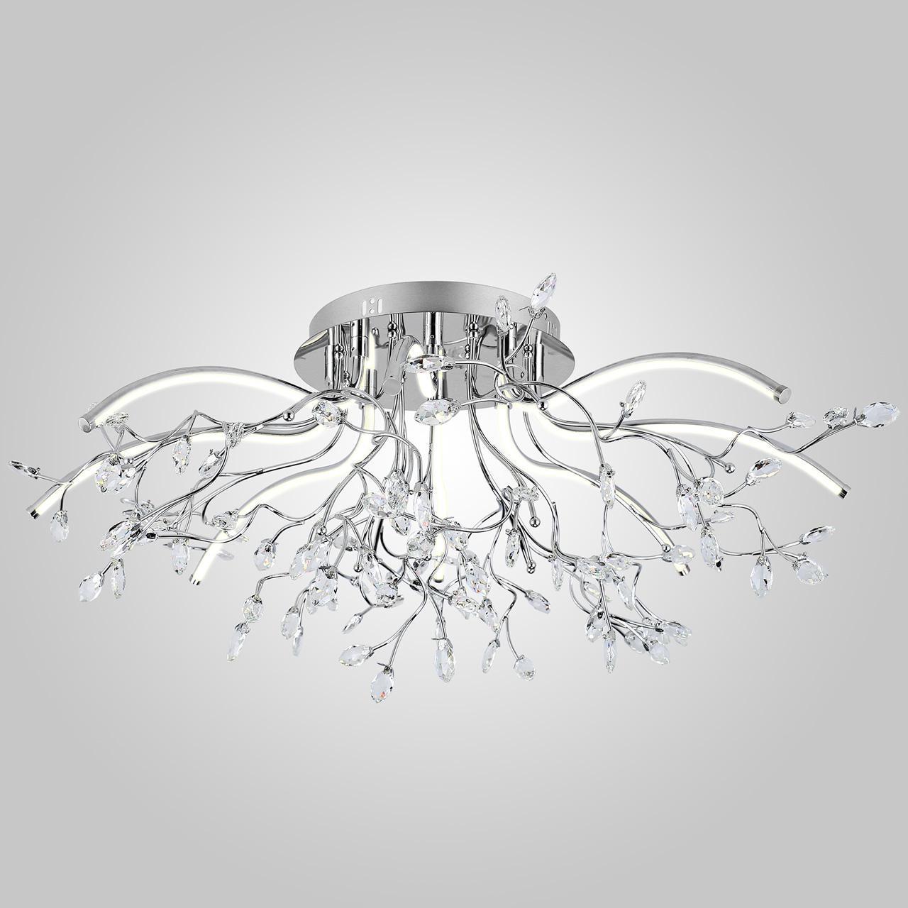Потолочный светодиодный светильник Eurosvet 90036/8 хром потолочный светодиодный светильник eurosvet хай тек 90020 8 хром