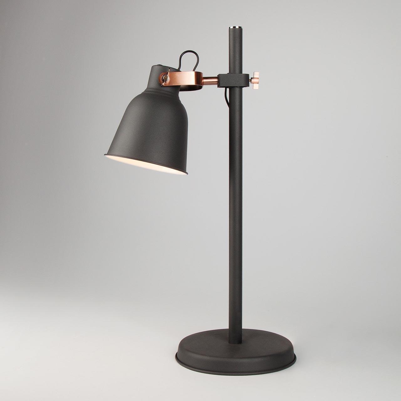 Настольная лампа Eurosvet Projector 01031/1 черный цена