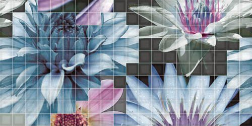 Декор Fanal Mosaico blanco Flor 1 25x50 цены