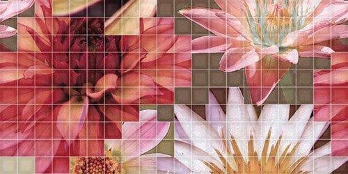 Декор Fanal Mosaico Crema Flor 1 25x50 цены