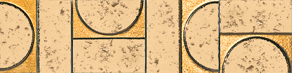 Бордюр FAP Ceramiche Evoque +15923 Sigillo Oro Listello Mosaico бордюр fap pura celeste matita 2x56