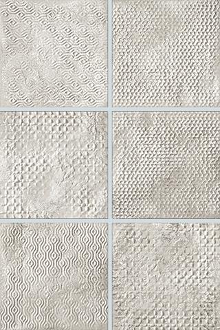 Декор FAP Ceramiche Maku +22261 20 Grid Whte Inserto Mix 6 декор impronta ceramiche square wall blu formelle glitter 12 25x25