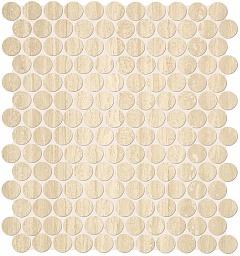 Мозаика FAP Ceramiche Roma +21478 TRAVERTINO ROUND MOSAICO бордюр fap roma greca pietra listello 8x25