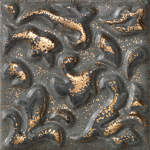 Вставка FAP Ceramiche Creta +17700 Acanto Fango Angolo вставка impronta ceramiche scrapwood fire tozzetto sq 5x15