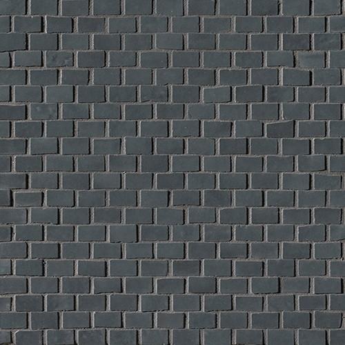 Настенная плитка FAP Ceramiche Brooklyn +26390 Brick Carbon Mos. boxy fancy brick carbon