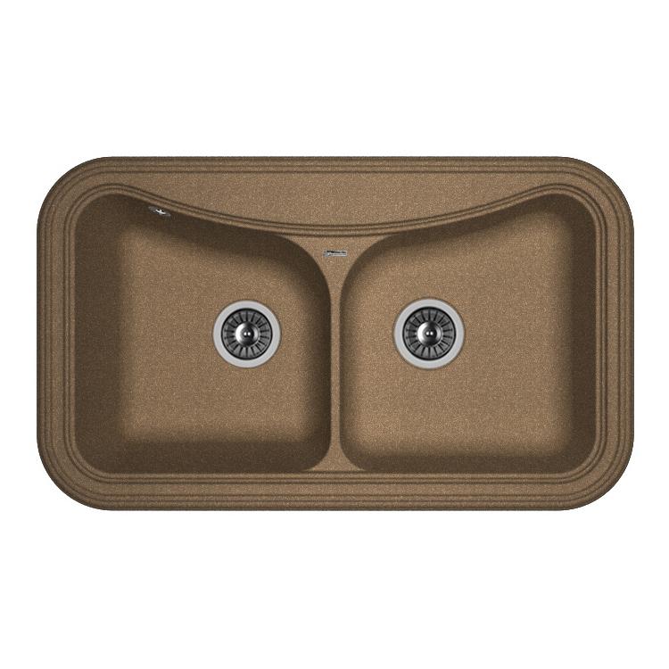 Кухонная мойка Florentina Крит-860 коричневый цена