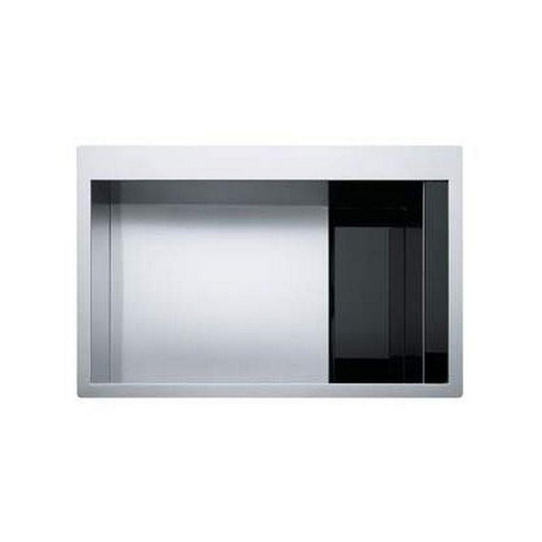 Кухонная мойка Franke Crystal CLV 210 черное стекло полированная