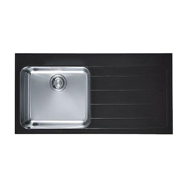 Кухонная мойка Franke Epos EOV 611 черное стекло, чаша слева