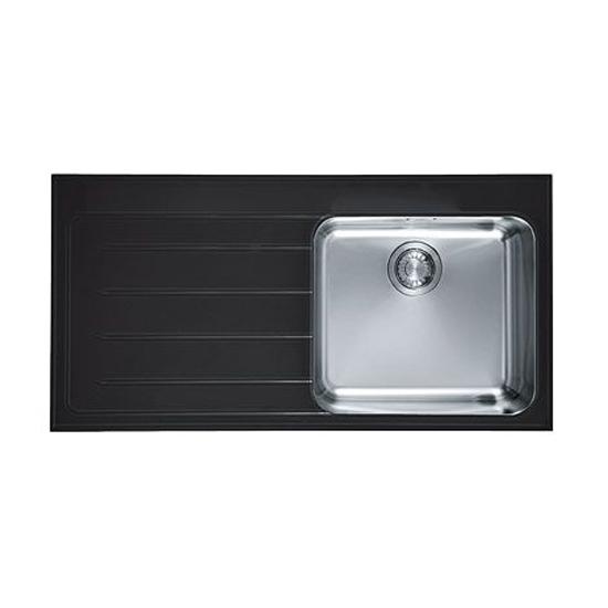 Кухонная мойка Franke Epos EOV 611 черное стекло, чаша справа