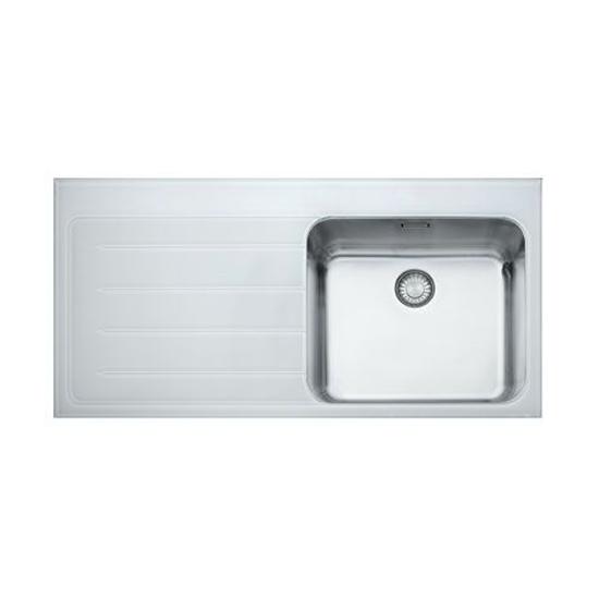 Кухонная мойка Franke Epos EOV 611 белое стекло, чаша слева eov 19 mx