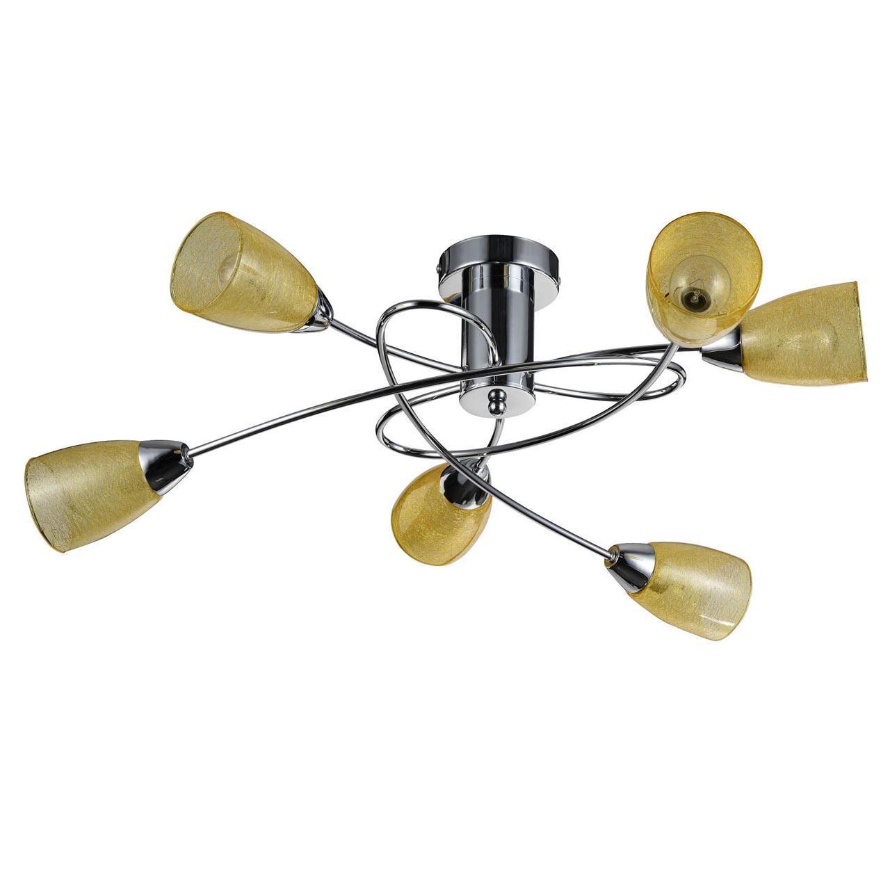 Люстра Freya Flash FR5103-CL-06-YE потолочная freya потолочная люстра freya flash fr5103 cl 06 bl