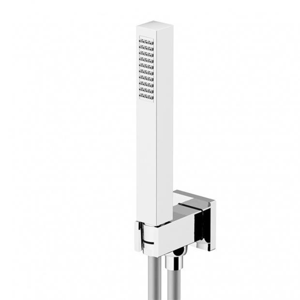 Душевой набор Gattoni KTQ01/PDCOcr шланг душевой flex цвет хром белый 1 5 м