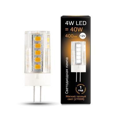 Лампа светодиодная G4 4W 2700К прозрачная 207307104 лампа светодиодная g9 4w 2700к кукуруза прозрачная 107309104