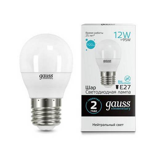 Лампа светодиодная E27 12W 4100K матовая 53222 goodeck лампа светодиодная goodeck рефлекторная матовая gu10 5 5w 4100k gl1007024206