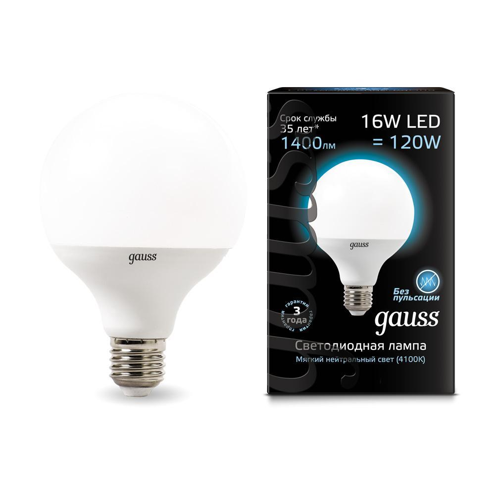 Лампа светодиодная E27 16W 4100K матовая 105102216 goodeck лампа светодиодная goodeck рефлекторная матовая gu10 5 5w 4100k gl1007024206