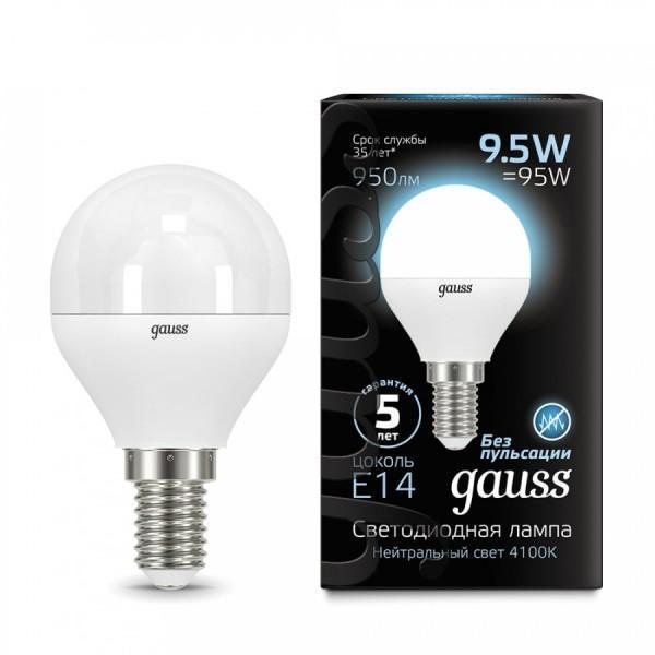 Лампа светодиодная E14 9.5W 4100K матовая 105101210 goodeck лампа светодиодная goodeck рефлекторная матовая gu10 5 5w 4100k gl1007024206