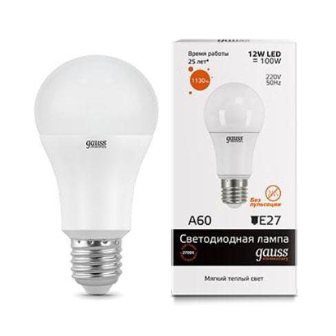 Лампа светодиодная E27 12W 3000K матовая 23212 vitacci 23212 1