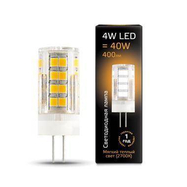 Лампа светодиодная G4 4W 2700К прозрачная 107307104 лампа светодиодная g9 4w 2700к кукуруза прозрачная 107309104