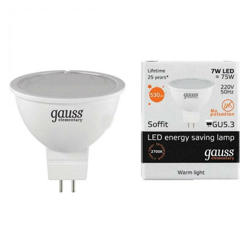 Лампа cветодиодная GU5.3 7W 3000K матовая 13517 diy 3w 3000k 315lm warm white light round cob led module 9 11v