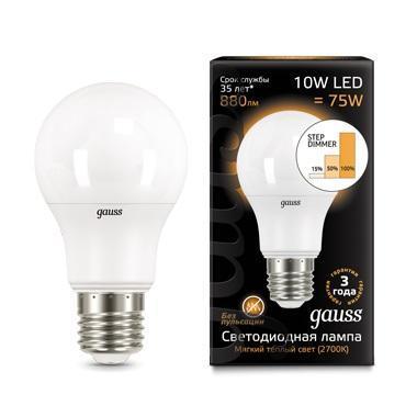 Лампа светодиодная диммируемая E27 10W 2700K матовая 102502110-S лампа светодиодная e27 10w 2700k груша матовая 23210