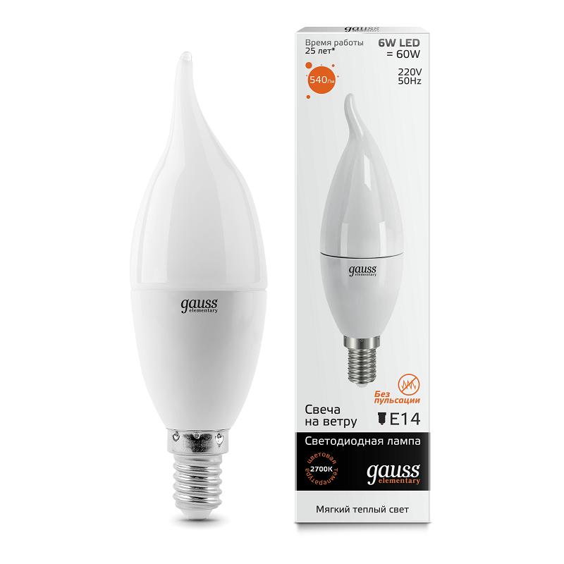 Лампа cветодиодная E14 6W 3000K матовая 34116 лампа cветодиодная e14 6w 2700k свеча матовая 33116