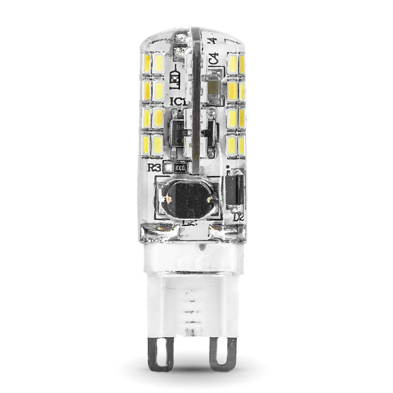 Лампа светодиодная G9 3W 2700K прозрачная 107709103