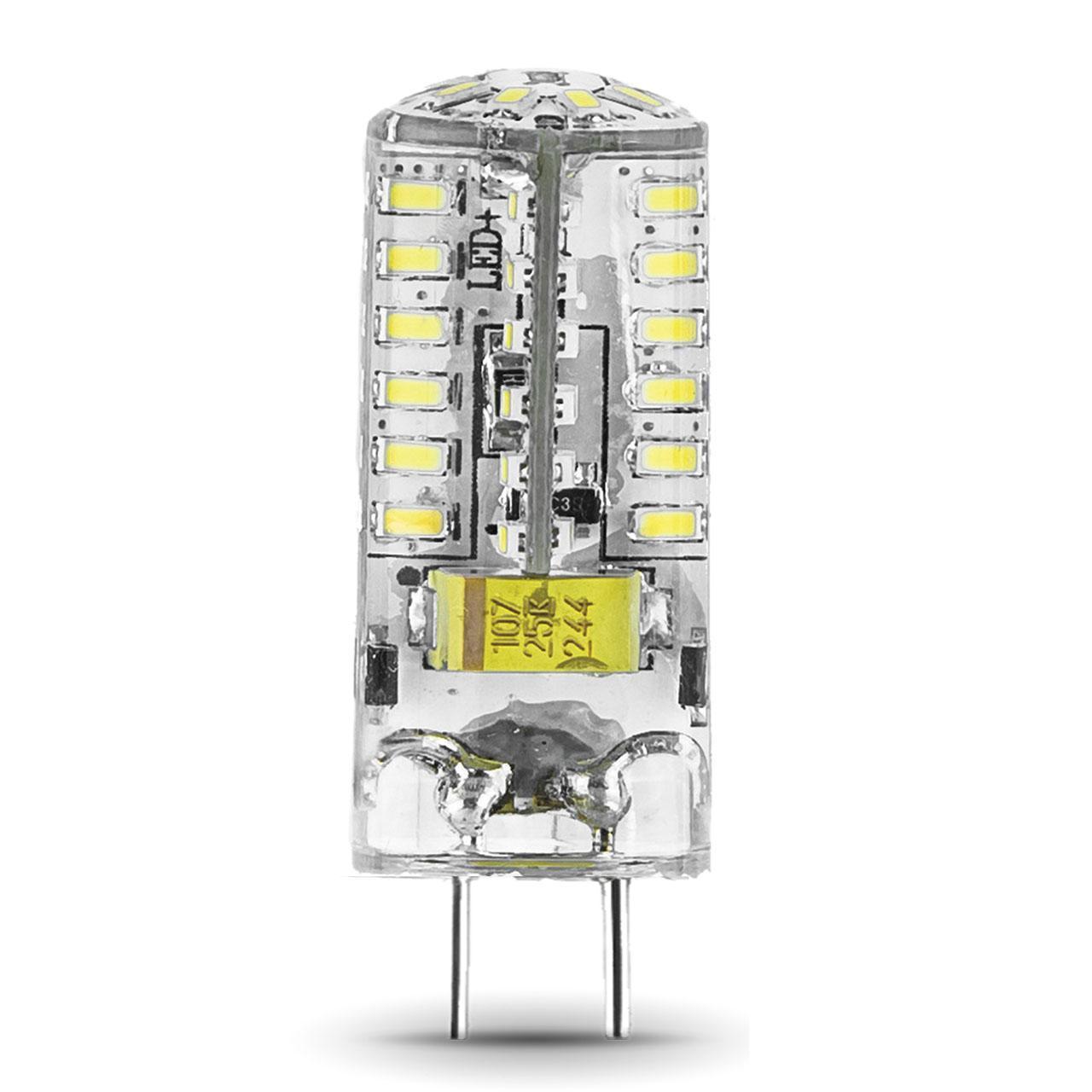 Лампа светодиодная GY6.35 3W 4100K прозрачная 107719203