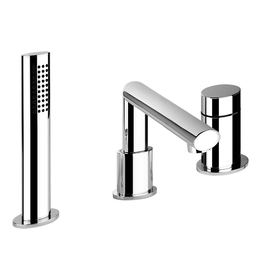 Смеситель Gessi Ovale 23037.031 для ванны смеситель на борт ванны фэма стиль artistica на четыре отверстия