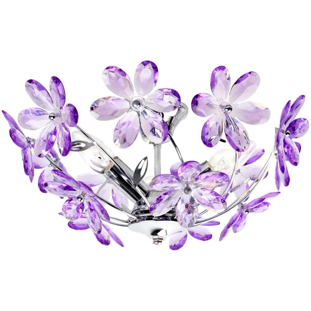 лучшая цена Люстра Globo Purple 5142 потолочная