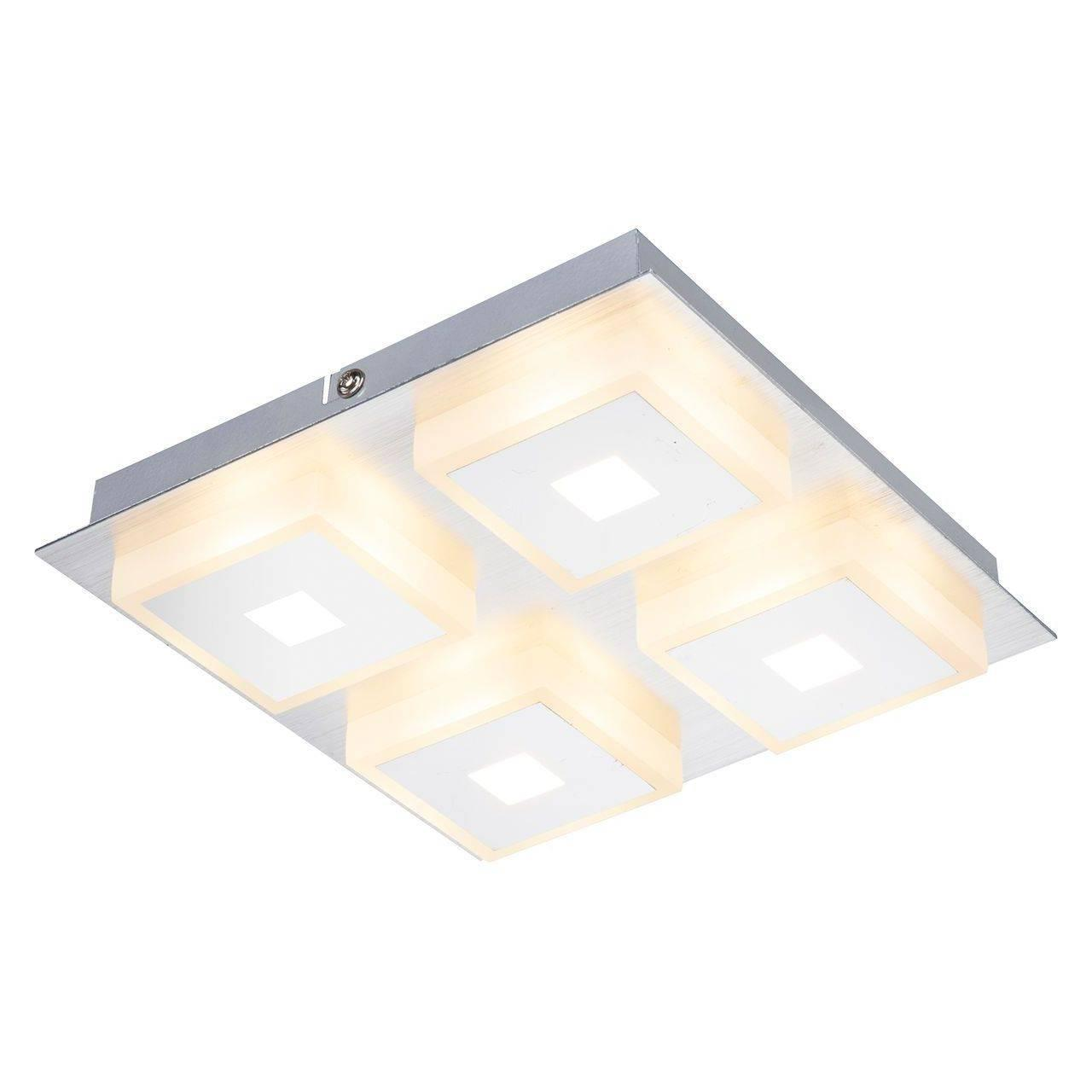 Потолочный светодиодный светильник Globo Quadralla 41111-4 потолочный светодиодный светильник globo mathilda 68397 12