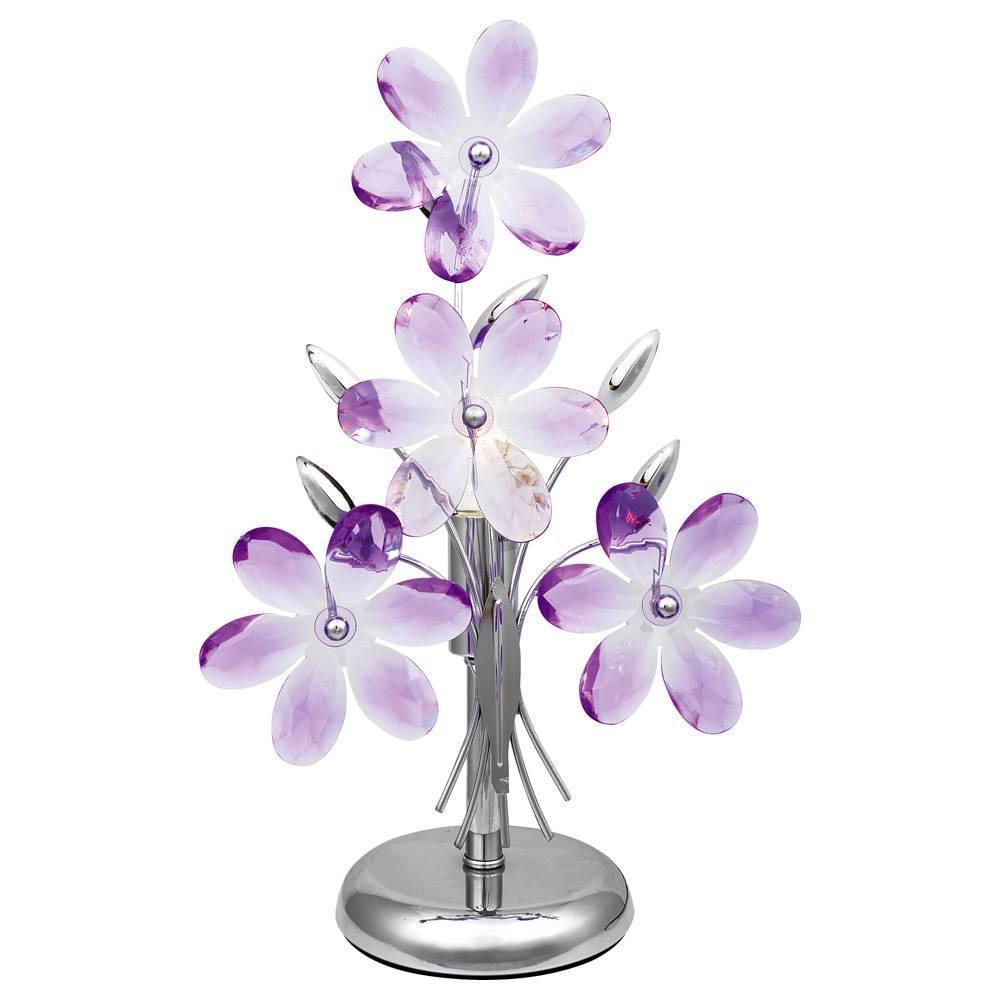 Настольная лампа Globo Purple 5146 настольная лампа ultraflash uf 320p c12 purple 12904