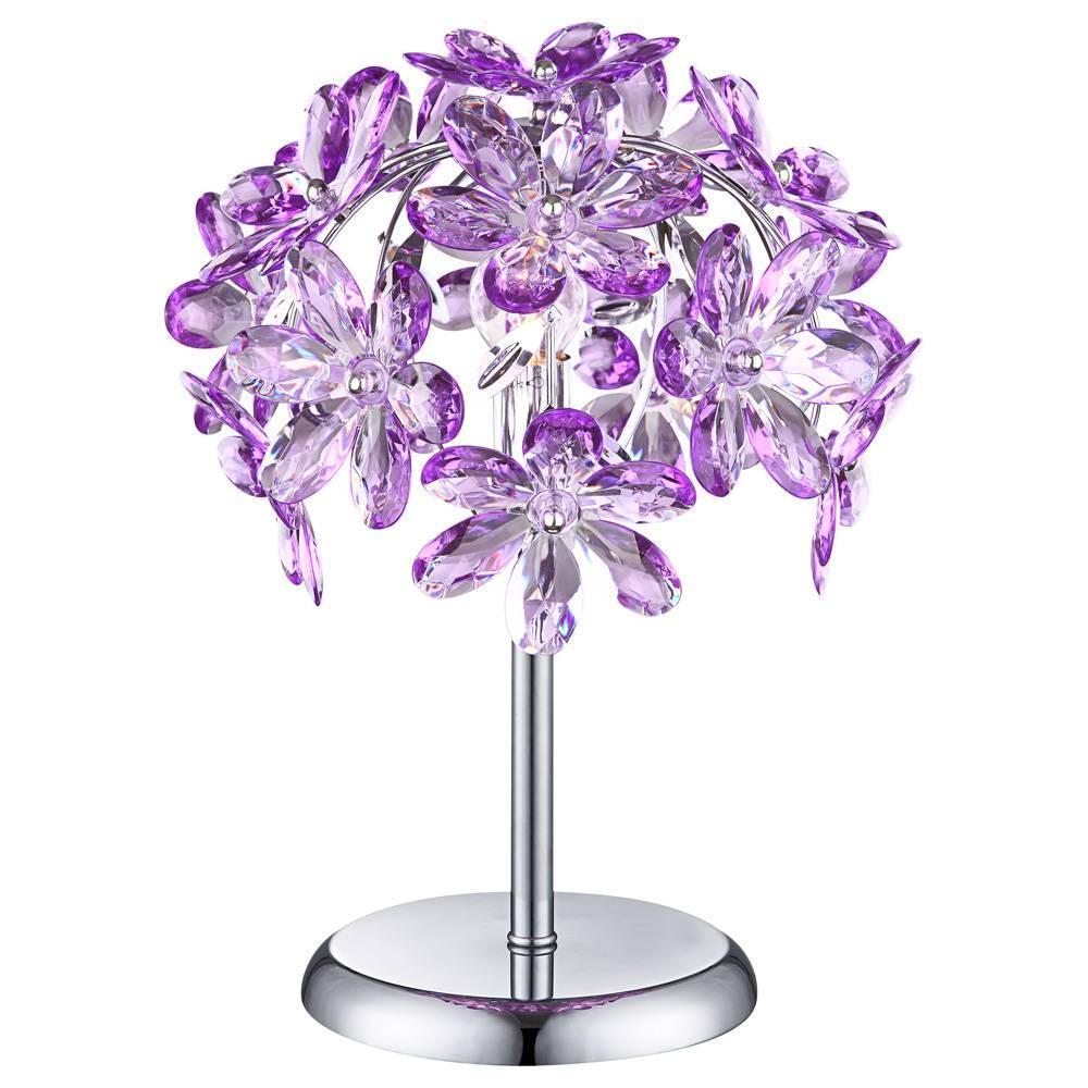 Настольная лампа Globo Purple 5142-1T настольная лампа ultraflash uf 320p c12 purple 12904