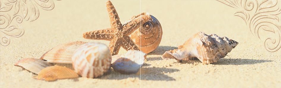 Amalfi sand 03 Панно 25x80 (панно из 2-х шт) 2 панно akimi