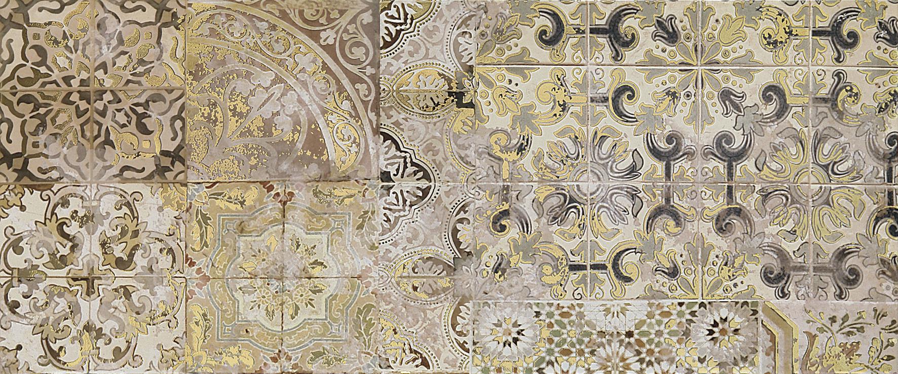 Patchwork beige Декор 02 25х60