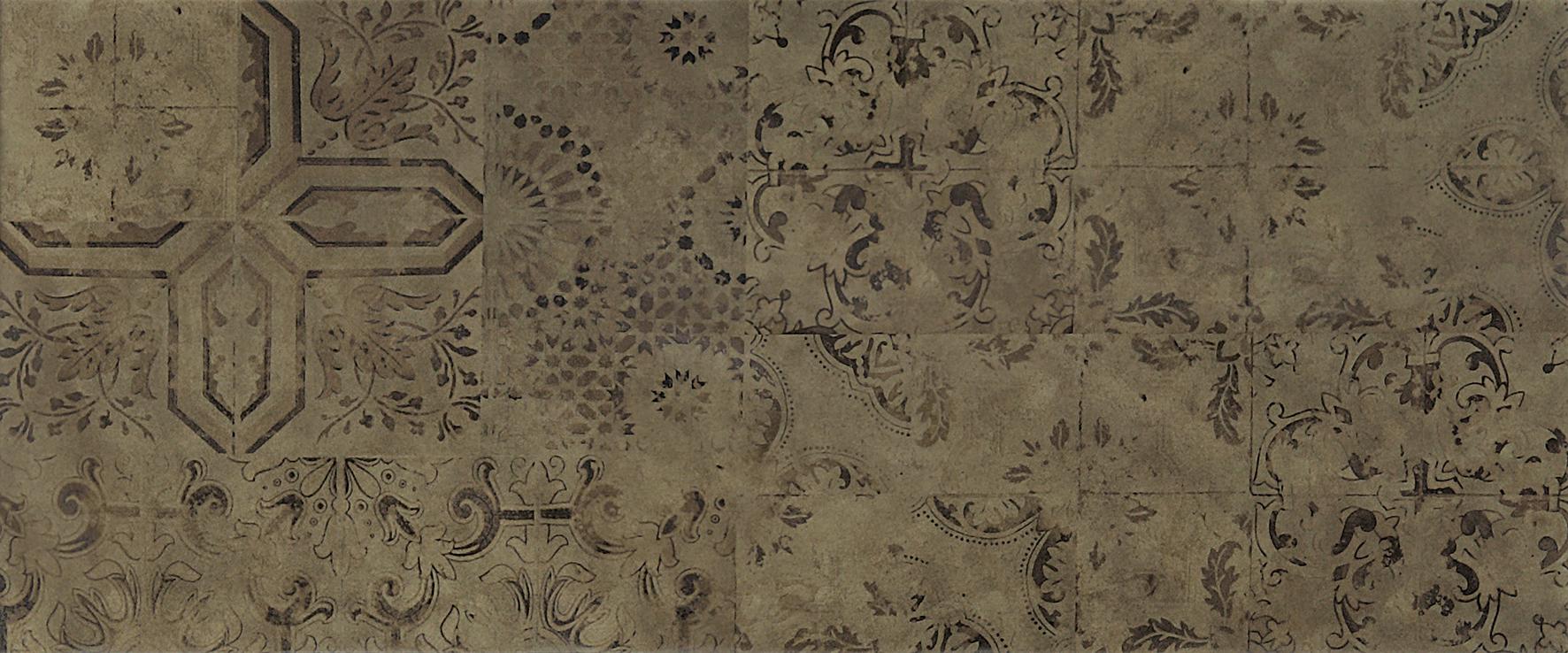 Patchwork brown Плитка настенная 03 25х60 плитка настенная 25х60 nuar белая