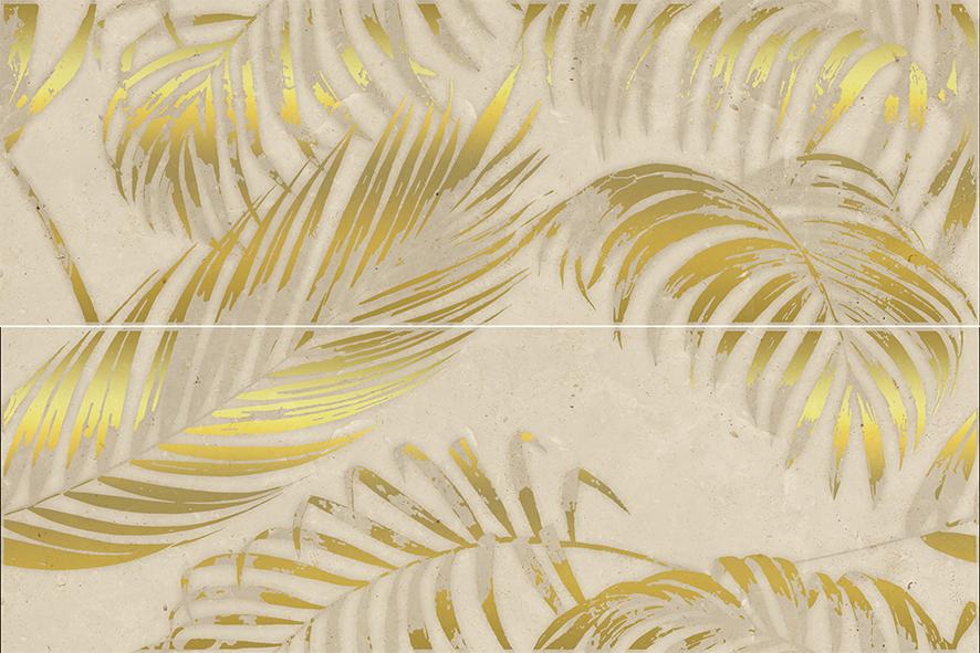 Palmera beige Панно 02 75х50 декор venus ceramica aria cenefa beige 3x50