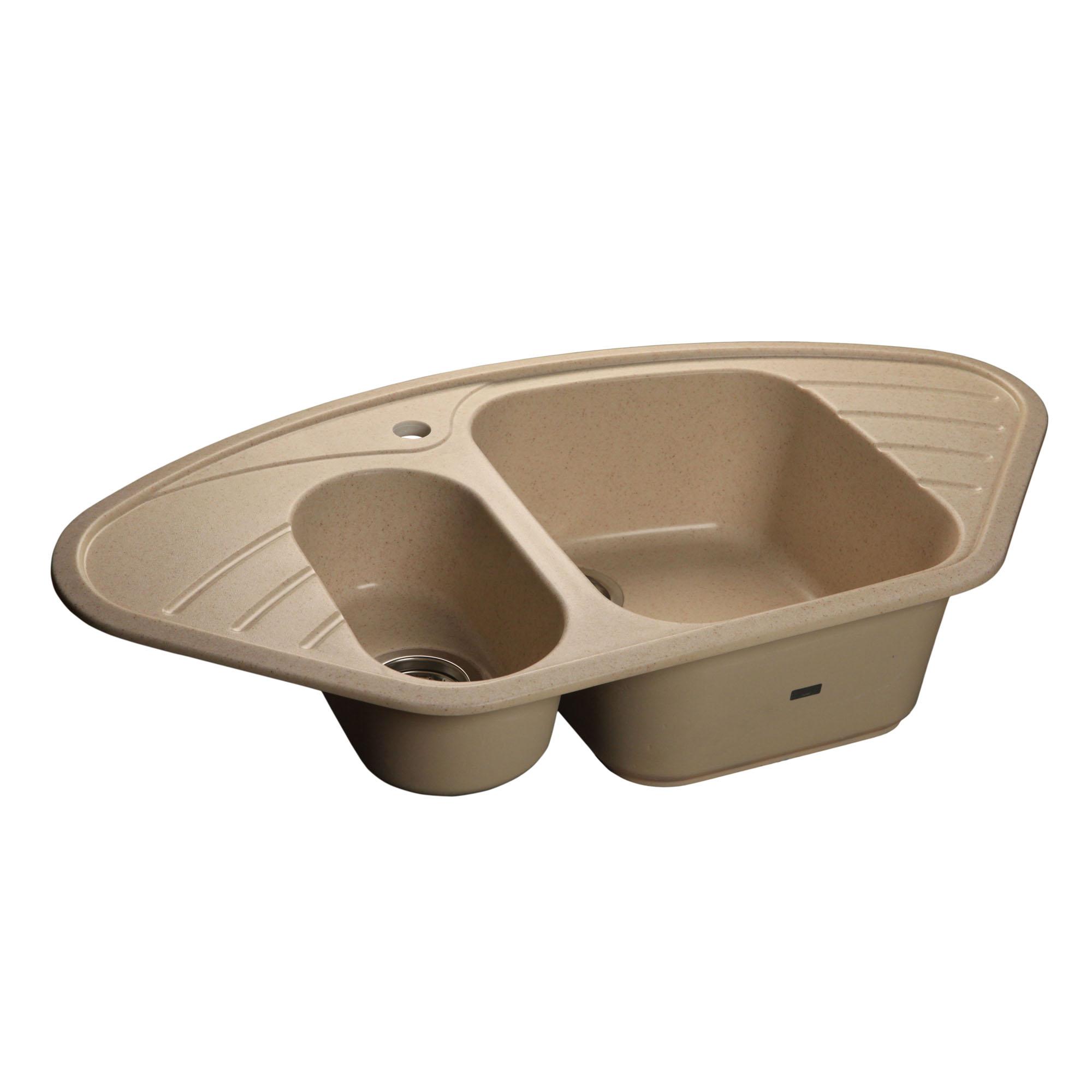 Кухонная мойка GranFest Corner GF-C960E песочный мойка кухонная granfest гранит угловая 960x510 gf c960e песок