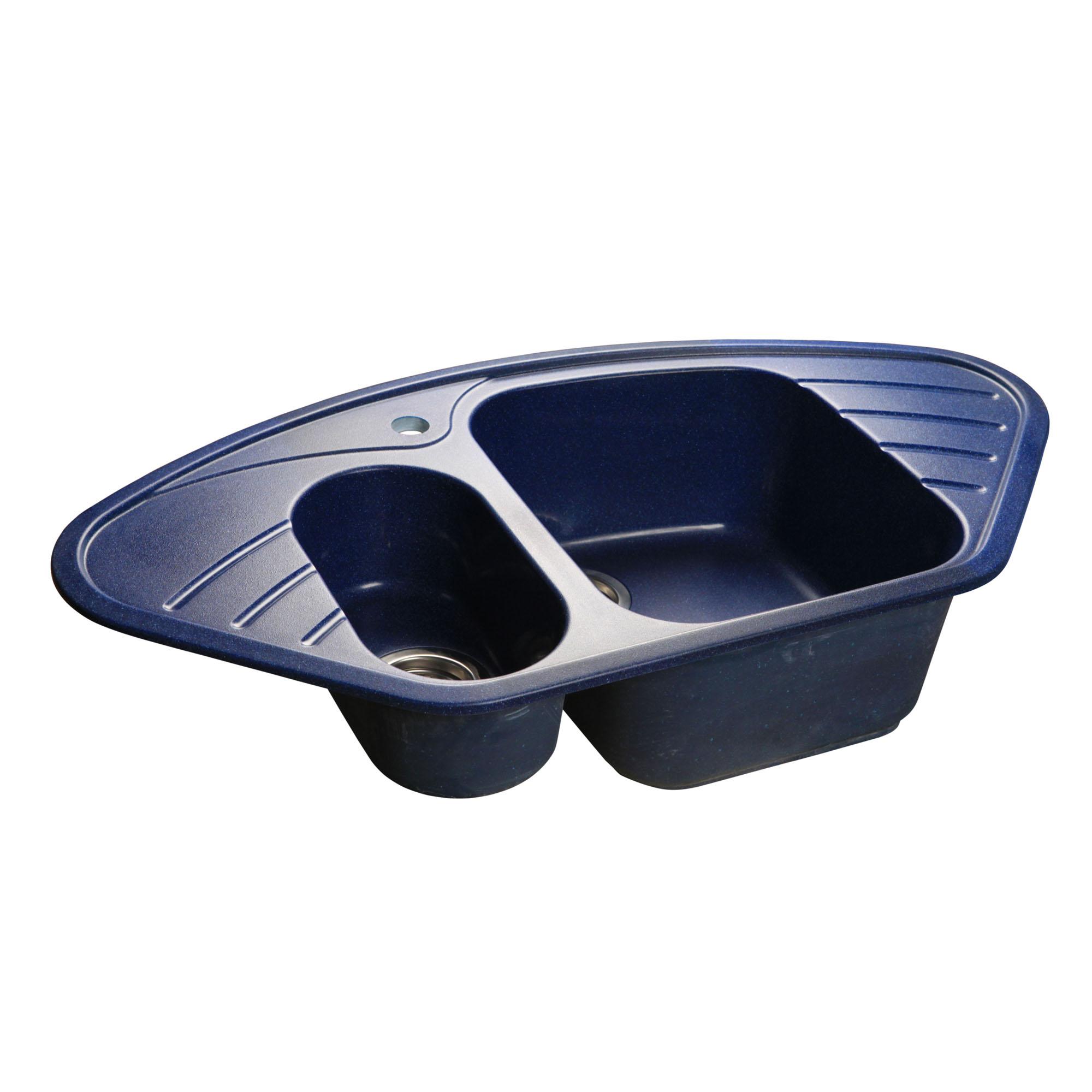 Кухонная мойка GranFest Corner GF-C960E синий мойка кухонная granfest гранит угловая 960x510 gf c960e песок