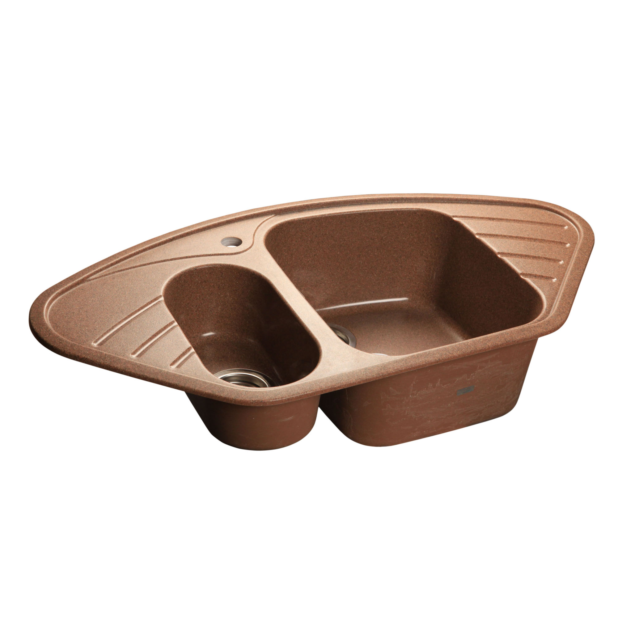 Кухонная мойка GranFest Corner GF-C960E терракот мойка кухонная granfest гранит угловая 960x510 gf c960e песок
