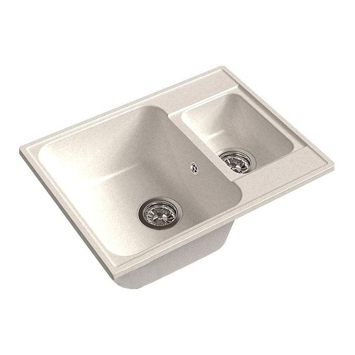 Кухонная мойка GranFest Eco 09 белый кухонная мойка smeg lse 40 ra медный metaltek