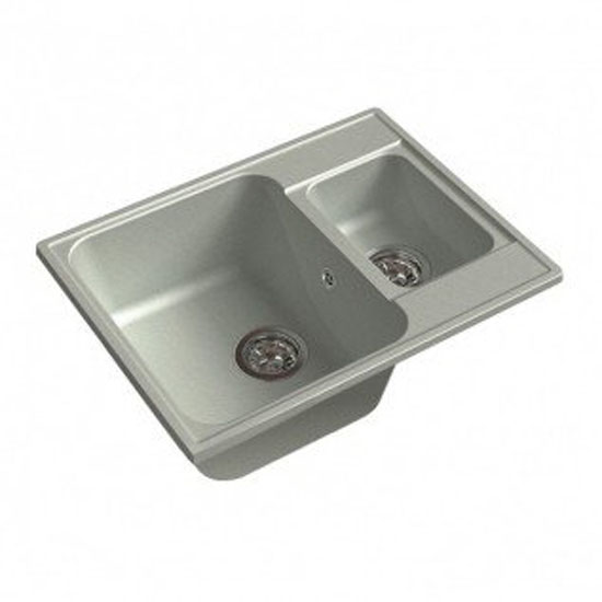 Кухонная мойка GranFest Eco 09 серый цена